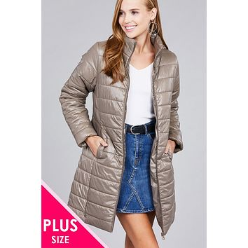 Plus Size Quilted Winter Jacket