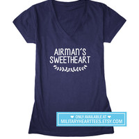 Airman's Sweetheart, Custom Air Force Shirt, air force wife shirt, air force girlfriend shirt, air force clothing, I love my airman