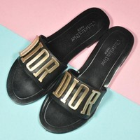 DIOR Woman Casual Sandals Slipper Shoes-1