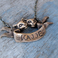 Cats custom banner necklace