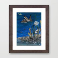 Under the Sea Framed Art Print by RokinRonda | Society6