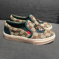 GUCCI GG Embroidered Slip-On Sneaker