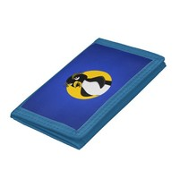 Rockhopper penguin cartoon tri-fold wallets