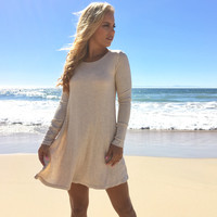 Big Sur Cream Knit Long Sleeve Dress