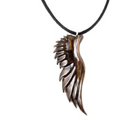 Wing Necklace, Mens Angel Wing Necklace, Angel Wing Pendant, Wood Angel Wing Necklace, Mens Wing Pendant, Angel Wing Jewelry, Mens Jewelry