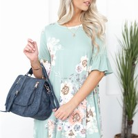 Meadow Floral Flutter Pocketed Tunic