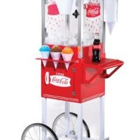 Nostalgia Electrics Coca-Cola Series SCC200COKE Old Fashioned Snow Cone Cart