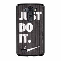 Nike Just Do It Wood Colored Darkwood Wooden LG G3 Case