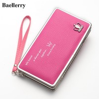New Designer Phone Wallets Women Wallets Brand Leather Long Red Coin Purses Female Clutch Bags For Gift Money Wallet Card Holder