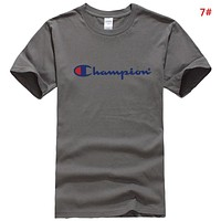 Champion  New Fashion Summer Letter Print Leisure Couple T-Shirt Top 7#