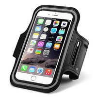 Fashion Waterproof Sports Armband Gym Running Arm Band Leather Phone Case For Apple iPhone 6 4.7 Plus 5.5