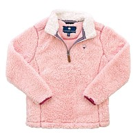 YOUTH Sherpa Pullover with Pockets in English Rose by The Southern Shirt Co.