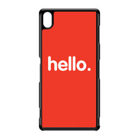 Hello Black Hard Plastic Case for Sony Xperia Z3 by textGuy