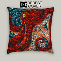 Octopus Mozaic Design Pillow Cases Square Available In 16 x 16 Inches 18 x 18 Inches 20 x 20 Inches