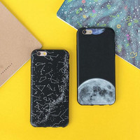 Constellation moon mobile phone case for iPhone 7 7 plus iphone 6 6s 6plus 6s plus + Nice gift   box!