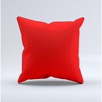 Solid Red  Ink-Fuzed Decorative Throw Pillow
