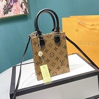 Hipgirls Louis Vuitton LV New Classic Letter Print Ladies Small Tote Bag Crossbody Bag