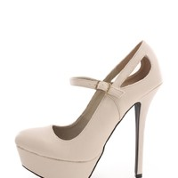 Stone The Hip Mary Jane Faux Leather Pump | $10.99 | Cheap Trendy Heels and Pumps Chic Discount Fash