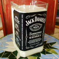 40 Plus Ounce Pure Soy Candle in Reclaimed Jack Daniels 1.75 liter Liquor Bottle - Your Choice of Scent
