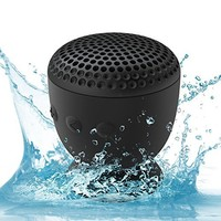 AquaAudio Cubo Waterproof Bluetooth Wireless Speaker with Strong Suction Cup & Built-in Mic (Blue)