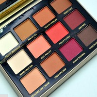 2018 New Makeup Just Peachy Velvet Matte Eye Shadow Palette papa Sweet Glow Smell Mattes 12 Color Eyeshadow