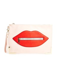ALDO Riccardi Lips Clutch with Zip detail