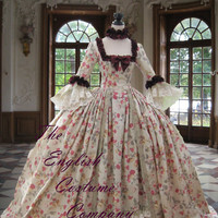 18th century Colonial Georgian  Marie Antoinette gown Recently made for the displays at the world famous Warwick Castle