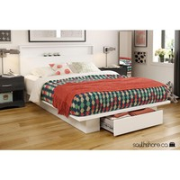 South Shore Trinity Full/Queen Wood Storage Bed-3340215 - The Home Depot