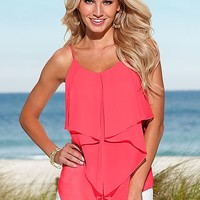 CORAL Ruffle top from VENUS
