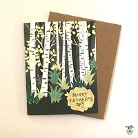 Father's Day Birch Trees Card