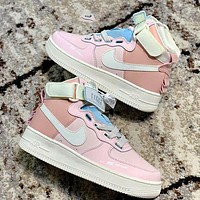 Nike Air Force 1 AF1 cherry blossom pink macaron mandarin duck functional sneakers pink