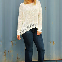 A Touch Of Color Top: Cream/Multi