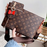 LV 2020 New Women's Dumpling Bag Shoulder Bag Messenger Bag Two Piece Set