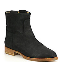 Rag & Bone - Holly Suede Flat Ankle Boots - Saks Fifth Avenue Mobile