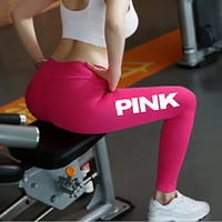 PINK Victoria's Secret Women Fashion Sport Gym Pants Trousers Sweatpants
