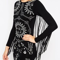 ASOS Halloween Solstice Bodycon Dress With Fringing