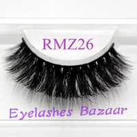 3pcs/lot RMZ26 100% real siberian 3d mink fur false eyelash long eyelashes mink lashes eyelash extensions@NVC = 1932214020