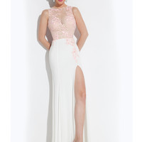 High Neck With Sheer Back Formal Prom Dress By Rachel Allan 6935