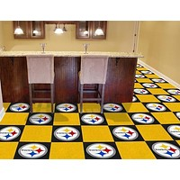 "Carpet Flooring NFL Pittsburgh Steelers 18""x18"" Carpet Tiles"