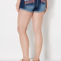 Stitched Americana High Waist Short in Curvy | High Waisted Shorts | rue21