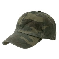 Polo Style Adjustable Unstructured Low-Profile Baseball Cap Hat Woodland Camo