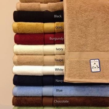 6-Pc Solid combed Cotton Towel Set