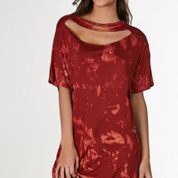 Flamed T-Shirt Dress