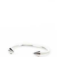 Hillcrest Skinny Spike Bangle in Silver