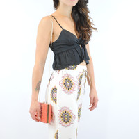 (anm) Knotted sexy sweetheart black peplum top