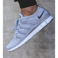"""NIKE"" Trending Fashion casual sports shoes  Grey"