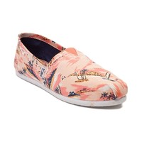 Womens TOMS Classic Palm Print Casual Shoe