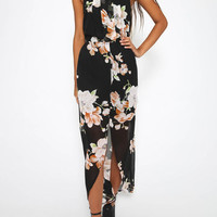 Halter Sleeveless Maxi Dress in Floral Print from mobile - US$21.95 -YOINS