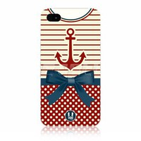 Ecell - head case anchor nautical clothing protective back case for apple iphone 4 4s