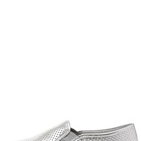Report Arvon Silver Perforated Slip-On Sneakers